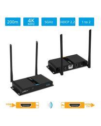 Dual Antenna Wireless 4K HDMI Extender KIT Transmitter and Receiver gofanco