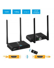 Multi-Channel Wireless HDMI Extender KIT Transmitter and Receiver gofanco