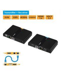 HDMI USB KVM CAT6 Extender – 4K (KVMHDExt4K)