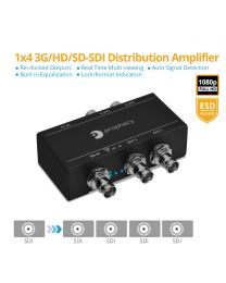 1x4 3G/HD/SD-SDI Distribution Amplifier/Splitter gofanco