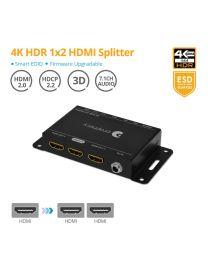4K HDR 1x2 HDMI Splitter gofanco