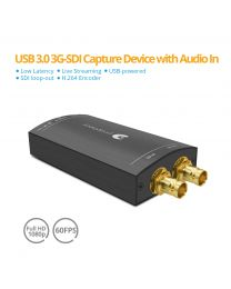 USB 3.0 3G-SDI Capture Device with Audio In