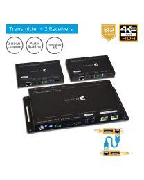 4K HDR 1x2 Splitter over HDBaseT (PRO-HDBaseT2P)