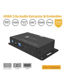 HDMI 2.0a Audio Extractor and Embedder gofanco
