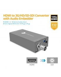 HDMI to 3G/HD/SD-SDI Converter with Audio Embedder gofanco