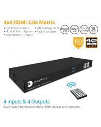 4x4 HDMI 2.0 Matrix Switcher 4K/HDR gofanco
