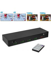 Multiple Switch Options - Push buttons, IR remote, RS232, IP, Cloud and Echo Control