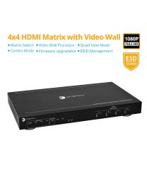 4x4 HDMI Matrix and Video Wall Processor (PRO-MatrixWall44)