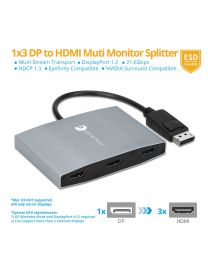 1x3 DisplayPort to HDMI MST Hub (PRO-MSTDP3HD)