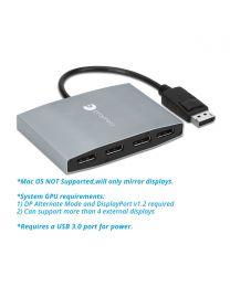1x4 DisplayPort MST Hub (PRO-MSTDP4DP)
