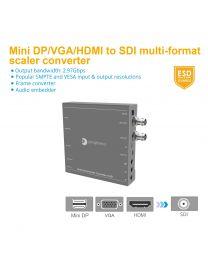 (HDMI/Mini DP/VGA/CVBS/YPbPr) to SDI Multi-Format Scaler & Converter gofanco