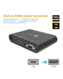 VGA to HDMI Scaler Converter with Audio gofanco