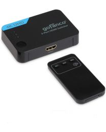 3-port hdmi switcher with remote 4K UHD gofanco