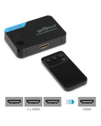 3-port hdmi switcher with remote 4K UHD gofanco