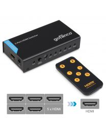 5-port hdmi switcher with remote gofanco