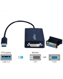 Male USB 3.0 to Female DVI or VGA adapter hybrid gofanco