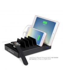 EdgeS 7-Port USB Charging Station – Black (USBCharge7P-B2)