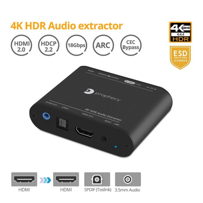 Prophecy 4K HDR Audio Extractor (PRO-AudioExt)
