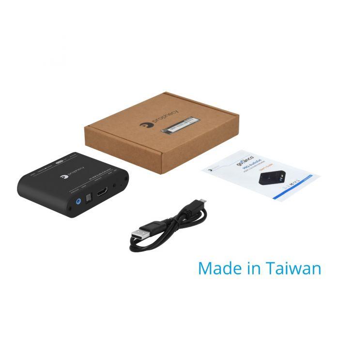 PROZOR 4K x 2K HDMI 2.0 Audio Extractor DAC mit Lautst/ärkeregler f/ür HDMI zu Optischem SPDIF Toslink R//L RCA + 3,5 mm Stereo Analogausgang Unterst/ützt HDR 4K@60Hz YUV 4: 4: 4