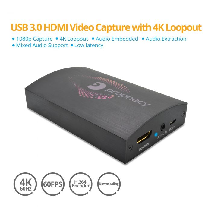 Prophecy HDMI USB Capture Device with Loopout (PRO-CaptureHD4K)