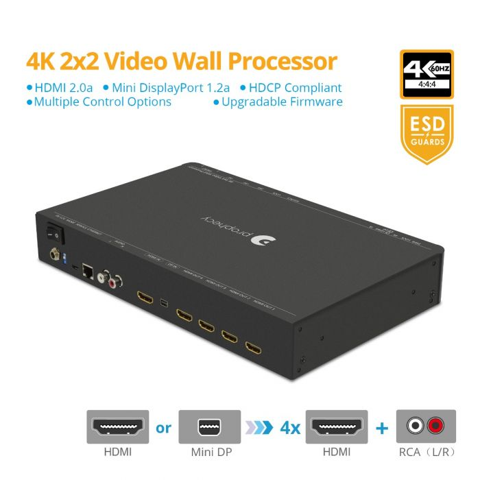 Prophecy 4K 2x2 Video Wall Processor (PRO-VideoWall)