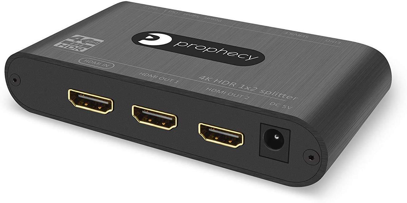 1x4 4-Port HDMI 2.0 Video Splitter Amplifier 4K UHD 4K@60Hz HDR 18Gbps HDCP 2.2