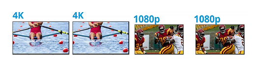 4K and 1080p screens